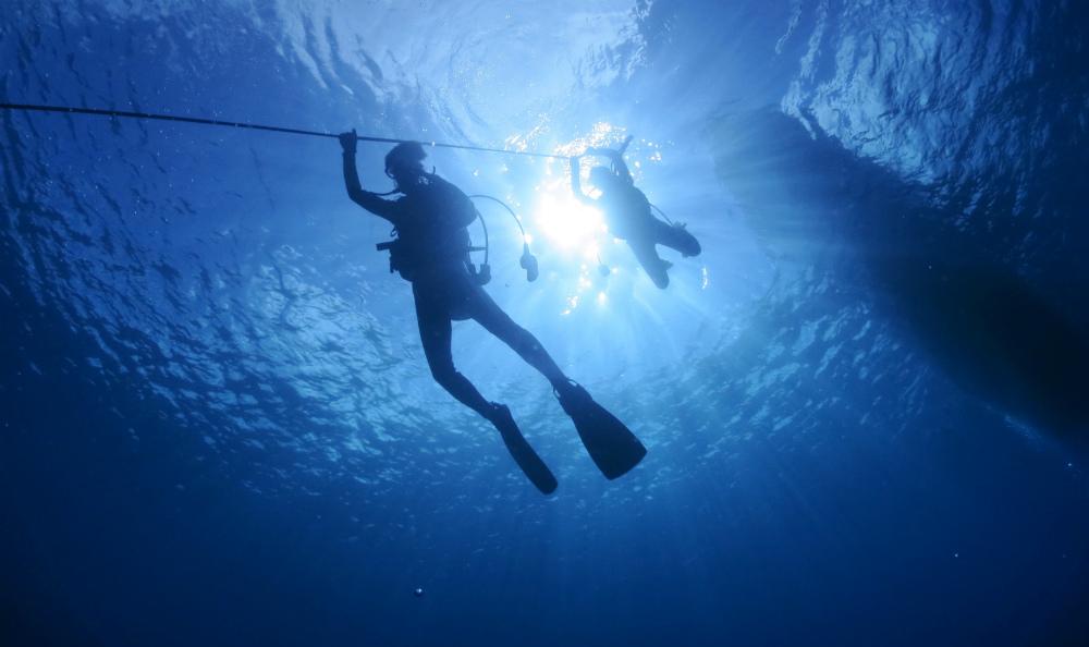 宮古島ダイビングの潜降