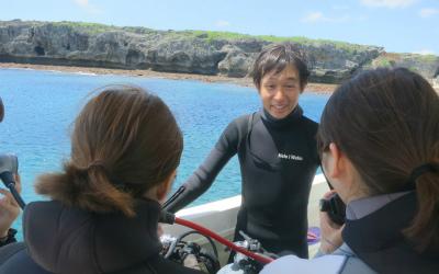 宮古島ダイビングのレクチャー