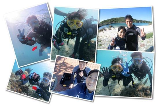 宮古島新婚旅行でのダイビング