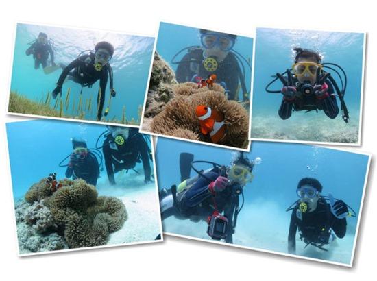 カップルで宮古島の海で遊んだダイビング