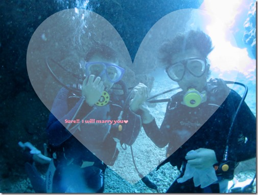 宮古島で水中プロポーズ