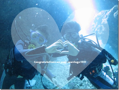宮古島の海で水中結婚式