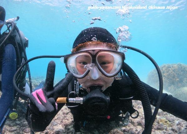 ダイビングの水中写真