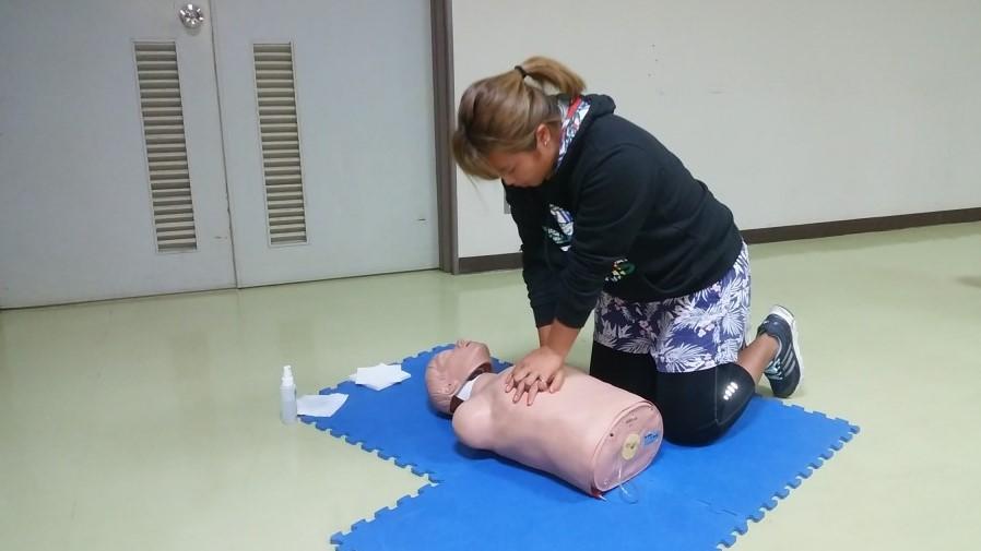 心肺蘇生法のトレーニング